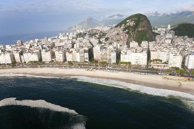 Copacabana Beach, Copacabana, Rio de Janeiro, Brazil-Peter Adams-Photographic Print
