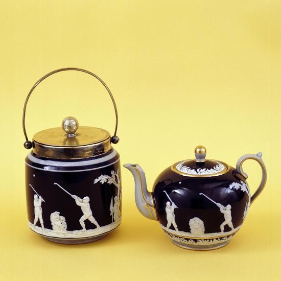 Copeland Spode golf-themed ceramics, c1905-Unknown-Giclee Print