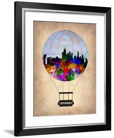Copenhagen Air Balloon-NaxArt-Framed Art Print