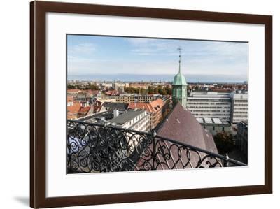 Copenhagen City. Trinitatis Church View from Rundetaarn. Copenhagen City Center. Denmark-Tom Norring-Framed Photographic Print