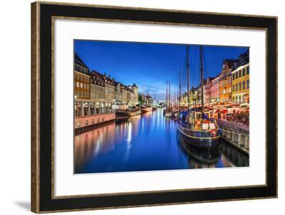 Copenhagen, Denmark on the Nyhavn Canal.-SeanPavonePhoto-Framed Photographic Print
