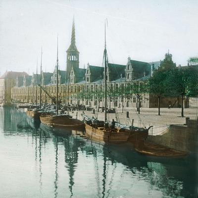 Copenhagen, Denmark, the Stock Exchange-Leon, Levy et Fils-Photographic Print