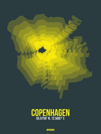 Copenhagen Radiant Map 1-NaxArt-Art Print
