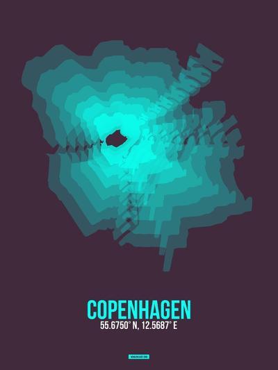 Copenhagen Radiant Map 2-NaxArt-Art Print