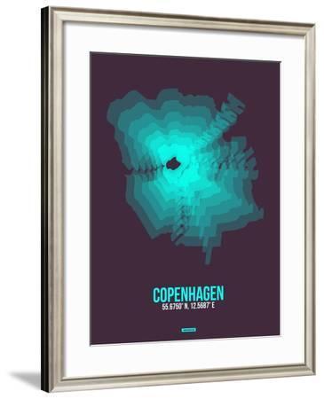 Copenhagen Radiant Map 2-NaxArt-Framed Art Print