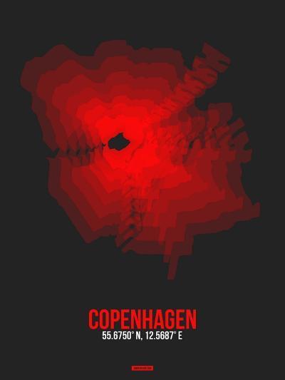 Copenhagen Radiant Map 3-NaxArt-Art Print