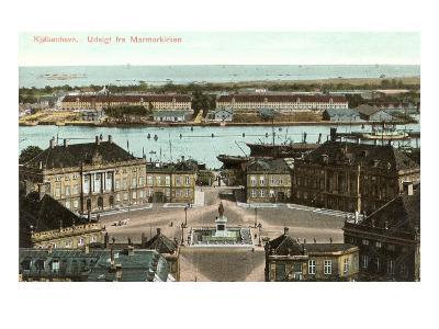 Copenhagen, View from the Marble Church, Denmark--Art Print