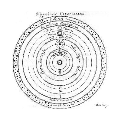 Copernican (Heliocentri) System of the Universe, 17th Century-Johannes Hevelius-Giclee Print