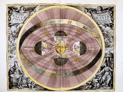 Copernican (Heliocentric/Sun-Centre) System of the Universe, 1708--Giclee Print