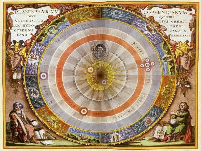Copernican Solar System, 1660-Andreas Cellarius-Giclee Print