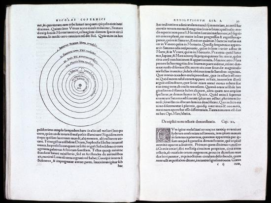 Copernicus' heliocentric model of the Universe, 1543. Artist: Unknown-Unknown-Giclee Print