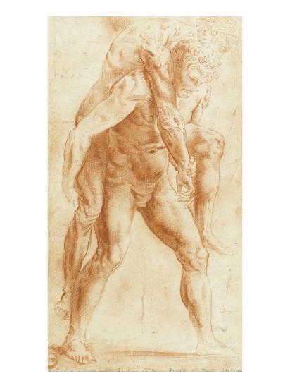 Copie D Apres Un Dessin De Raphael Pour Un Incendie Du Borgo