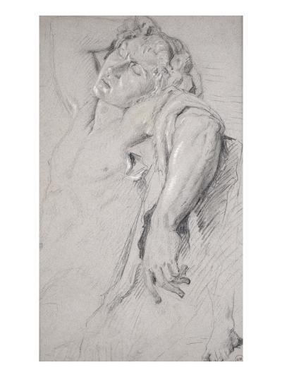 Copie d'après une statue antique (Faune Barberini)-Gustave Moreau-Giclee Print