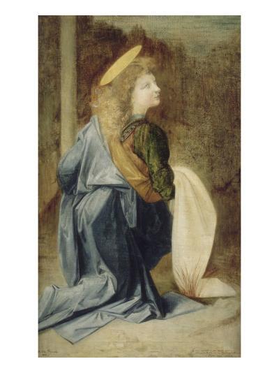 Copie d'après Verrocchio : détail d'un ange dans le baptême du Christ (Florence, Offices)-Andrea del Verrocchio-Giclee Print