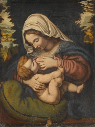 Copie de La Vierge au coussin vert-Andrea Solario-Giclee Print