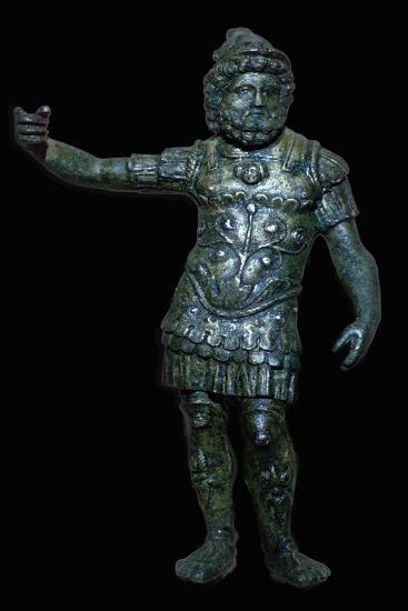 Copper alloy figure of Mars with silver inlay, Roman Britain, 2nd century. Artist: Unknown-Unknown-Giclee Print
