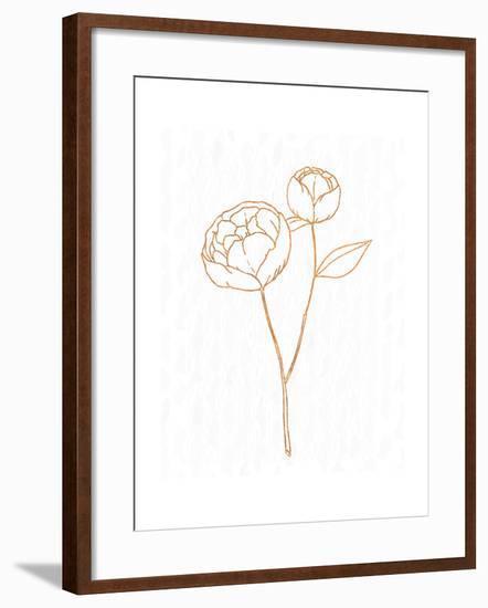 Copper Botanical 1-Kimberly Allen-Framed Art Print