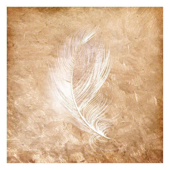 Copper Feathered 2-Kimberly Allen-Art Print