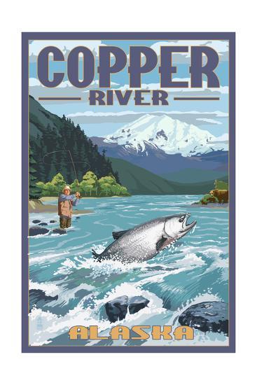 Copper River, Alaska - Fisherman-Lantern Press-Art Print