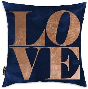 Copper Throw Pillow - Love