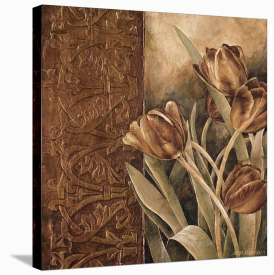 Copper Tulips I-Linda Thompson-Stretched Canvas Print