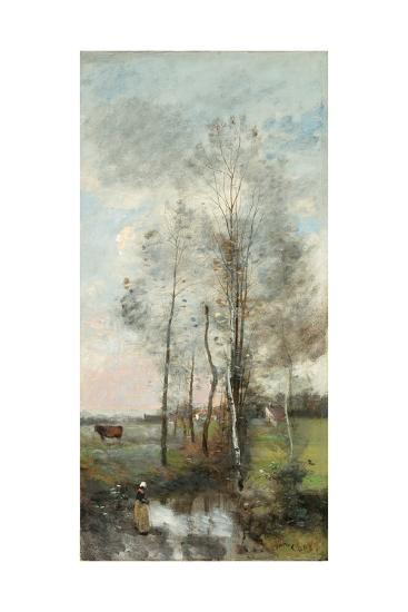 Copse of Alder and Birch, 1865-70-Jean-Baptiste-Camille Corot-Giclee Print
