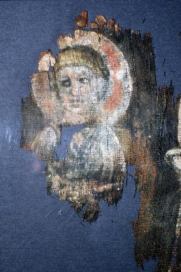 Coptic Textile Head of Christ, Painting on Linen, Egypt, 6th century-Unknown-Giclee Print