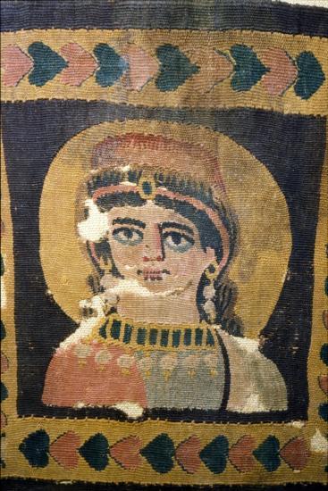 Coptic Textile Portrait of Ariadne, 5th century-Unknown-Giclee Print
