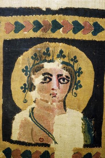 Coptic Textile, Portrait of Dionysus. 5th Century-Unknown-Giclee Print