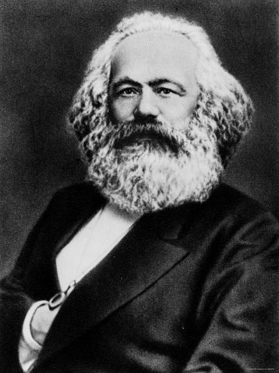 Copy from Photogravure of German Born Political Economist and Socialist Karl Marx--Premium Photographic Print