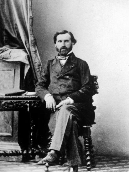 Copy Of Carte De Visite Italian Composer Giuseppe Verdi By Andre Adolphe Eugene Disderi Premium Photographic Print
