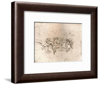 Copy of part of the cartoon of the Battle of Anghiari, c1505-c1523 (1883)-Cesare da Sesto-Framed Giclee Print