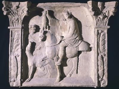Copy of Relief Depicting Figures Returning from Hunting, from Trier, Germany--Giclee Print