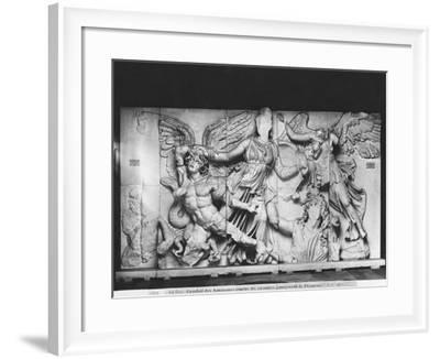 Copy of the Great Altar of Zeus and Athena, from Pergamon, c.180-160BC--Framed Giclee Print