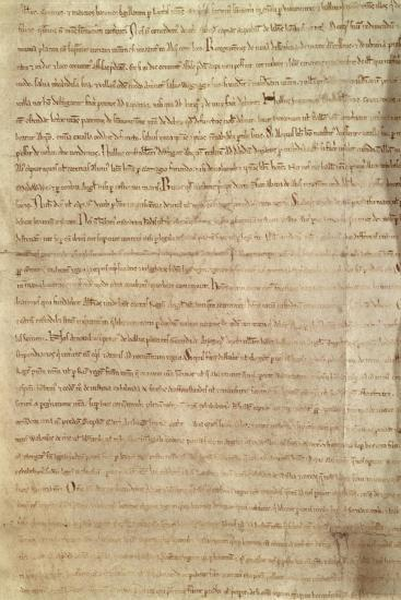 Copy of the Magna Carta--Giclee Print