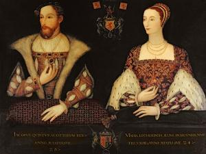 Copy of the Original Double Portrait of Marie De Guise (1515-60) and King James V (1512-42)…