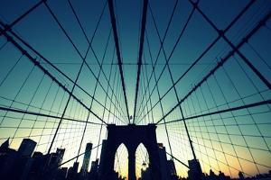 Brooklyn Bridge Cross Processed by Copyright Ralph Grunewald