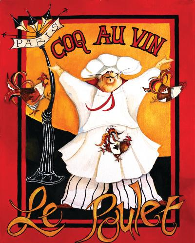 Coq Au Vin-Jennifer Garant-Art Print