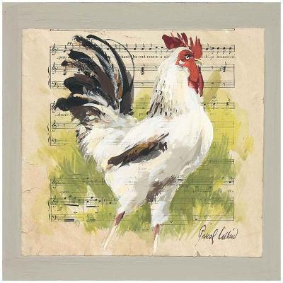 Coq Blanc-Pascal Cessou-Art Print