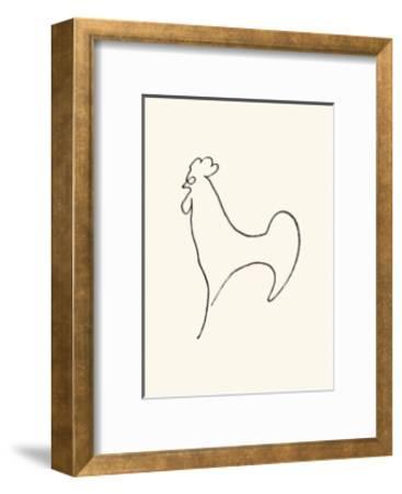 Coq-Detail, c.1907-Pablo Picasso-Framed Serigraph