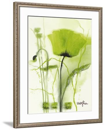 Coquelicot Vert II-Marthe-Framed Art Print