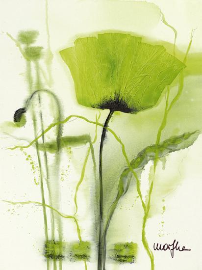 Coquelicot Vert II-Marthe-Art Print