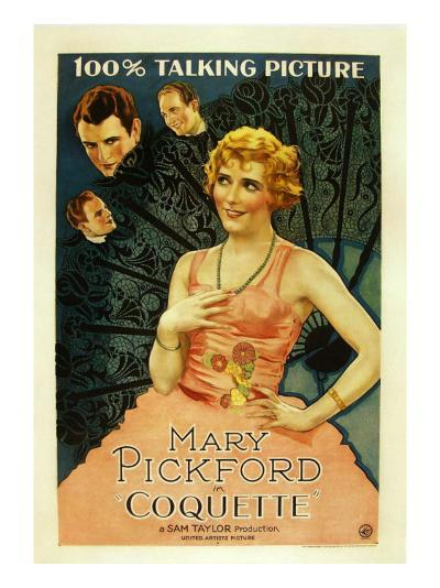 Coquette, Matt Moore, Johnny Mack Brown, Mary Pickford, 1929--Photo