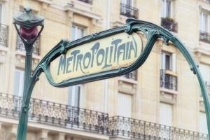 Art Nouveau Entrance of the Paris Metro by Cora Niele