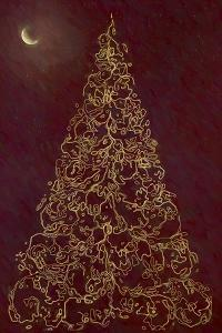 Christmas Tree in Moonlight by Cora Niele
