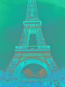 Eiffel Tower in Turquoise by Cora Niele