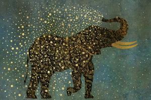 Gold Spraying Elephant by Cora Niele