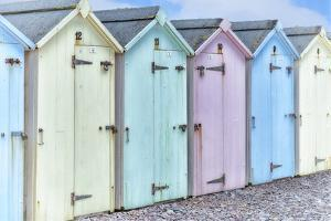 Pastel Colored Beach Cabins by Cora Niele