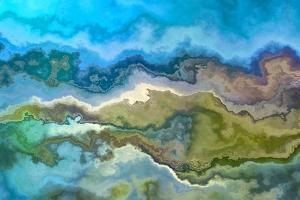 Wavescape Blue And Green by Cora Niele