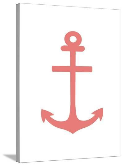 Coral Anchor-Jetty Printables-Stretched Canvas Print